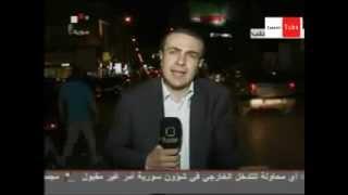 getlinkyoutube.com-ضرب مراسل التلفزيون السوري على الهواء بشحاطة زرقاء ق 45