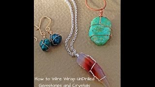 getlinkyoutube.com-How to Wire Wrap Crystals and Tumbled Stones by Denise Mathew