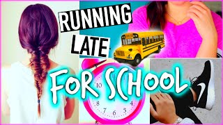 getlinkyoutube.com-Running late for school: Hairstyles, Makeup & Outfit ideas!