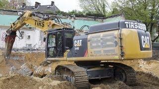 getlinkyoutube.com-Cat 349 E UHD STC Longfront  & Cat 330 D kämpfen gegen Fundamente / TIRS Abbruch
