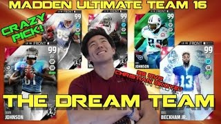 THE DREAM TEAM! NEW 99 Christian Okoye! Amazing Pick! Madden Ultimate Team 16