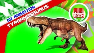 Green Screen JURASSIC PARK Tyrannosaurus T Rex HD - Footage PixelBoom CG