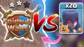 getlinkyoutube.com-Clash Of Clans - FRIEDNLY WARS Vs. 20X WITCHES!! NEW UPDATE 2016
