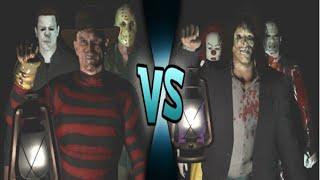 getlinkyoutube.com-Jason Voorhees, Michael Myers & Freddy Krueger vs Pinhead, Leatherface & Penny-Wise