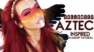 Halloween AZTEC Inspired Makeup Look