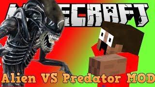 "getlinkyoutube.com-""ALIEN VS PREDATOR in MINECRAFT"" (Minecraft Mod Showcase)"