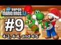 New Super Mario Bros U: World 4-3, 4-4, 4-5 - Wii U 100% Star Coins Walkthrough