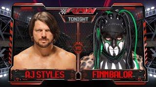 WWE Raw 2016 - Finn Balor Vs AJ Styles Full Match HD