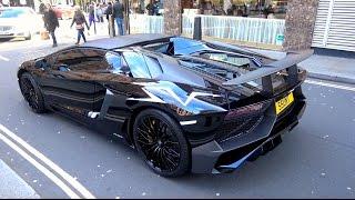 getlinkyoutube.com-First Lamborghini Aventador SV Roadster in London! - Start Ups, Sounds & Driving