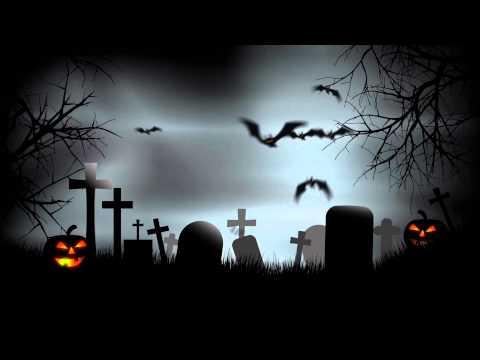 Halloween Graveyard Background After Effects Template