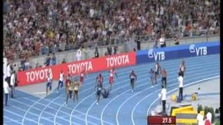 getlinkyoutube.com-4 x 100m Relay world record  37.04s + Michael Johnson reaction