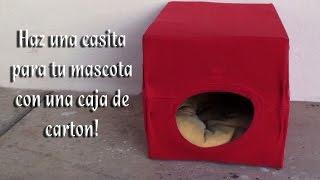 getlinkyoutube.com-Como hacer una camita para sus mascotas con una caja de carton