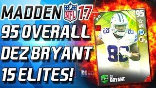getlinkyoutube.com-15 ELITES! 95 OVERALL DEZ BRYANT TOTW BUNDLE!  - Madden 17 Ultimate Team