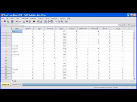 1.8 Split a File: PASW (SPSS) Statistics v.17 video