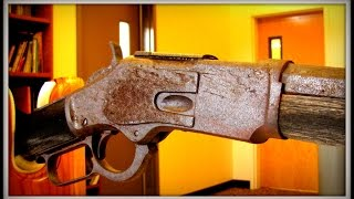 getlinkyoutube.com-First Public Look! 132 Year Old Winchester Rifle Found in Nevada Under A Tree !!
