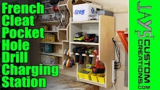 getlinkyoutube.com-French Cleat Pocket Hole Drill Charging Station - 135