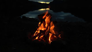 getlinkyoutube.com-Beautiful Campfire at the Lake with Crackling Fire, Crickets and Owls Sounds (HD)