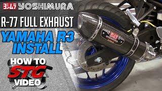 getlinkyoutube.com-Yoshimura exhaust install on a 2015 Yamaha YZF-R3 from SportbikeTrackGear.com