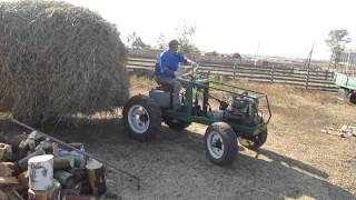 Самодельный трактор .Прицеп-сеновозка .