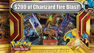 getlinkyoutube.com-Opening 10x Charizard EX Boxes! New Fire Blast Box! $200 worth - Pokemon TCG unboxing