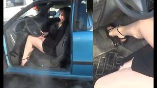 getlinkyoutube.com-Vicky extreme revving with a Fiat Punto 16V - Trailer Pedal Pumping