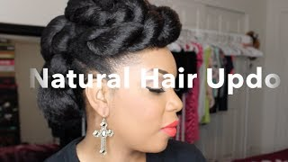 getlinkyoutube.com-Natural Hair | Natural Hair Updo With Braiding Hair Tutorial