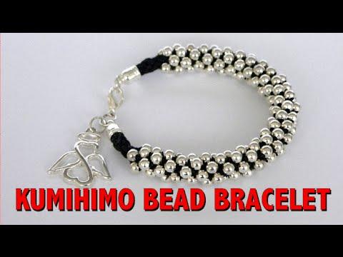 kumihimo bead - pulsera kumihimo con cuentas