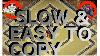 getlinkyoutube.com-Slow & Easy To Copy Th10 War Base! - The Box Fence | Anti 2 Star! | Clash Of Clans