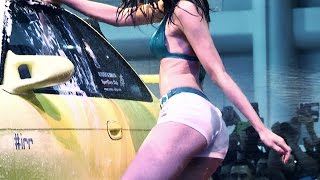 getlinkyoutube.com-ดารา AV จัดเต็ม Sexy car wash ( Rola Misaki & Nono Mizusawa ) Bangkok International Auto Salon 2015