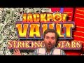 NEW SLOT ALERT!!! BIG WIN! LIVE PLAY on Jackpot Vault Slot Machine with Bonuses