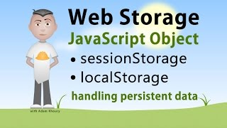 JavaScript Storage Interface sessionStorage localStorage Tutorial width=