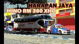 Harapan Jaya Hino RM380 XHD roadtest | ets2 mod bus Indonesia