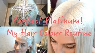 getlinkyoutube.com-*PERFECT PLATINUM*  My Hair Colour Routine