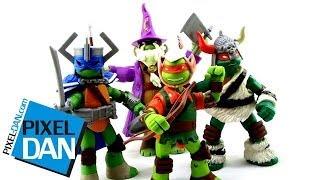 getlinkyoutube.com-Nickelodeon Teenage Mutant Ninja Turtles LARP Live Action Role Play TMNT Figures Video Review