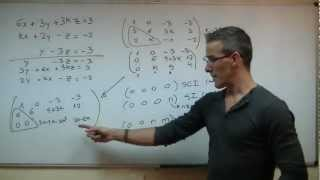 Imagen en miniatura para Discutir un sistema - Método de Gauss