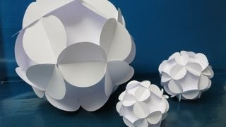getlinkyoutube.com-sliceform - papercraft - kusudama - flowerball - tutorial -dutchpapergirl