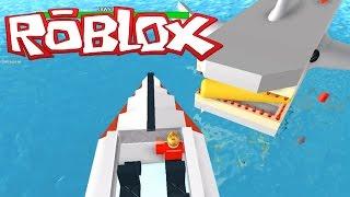 getlinkyoutube.com-Ethan plays Roblox: Jaws 2015 | KID GAMING