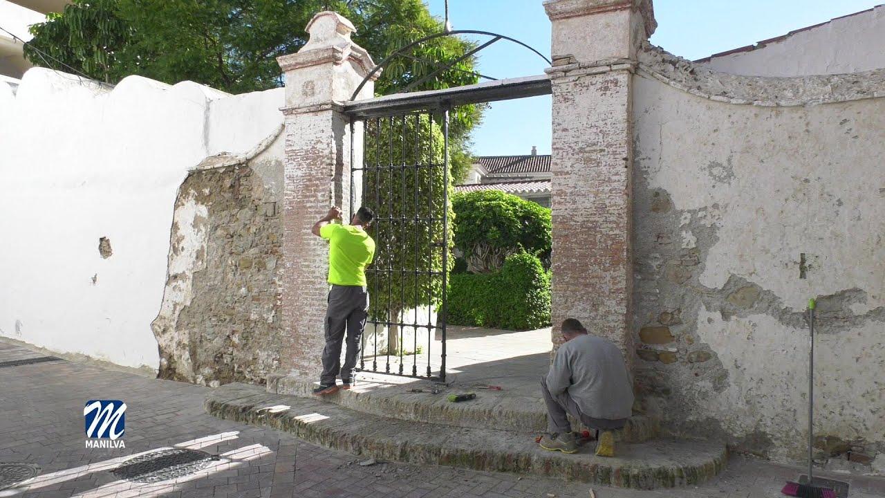 Arreglo de la portada del cementerio parroquial
