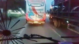Duwel Hangat Truck Cabe Vs Bus Rosalia Indah
