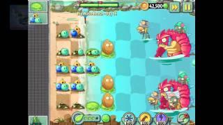 getlinkyoutube.com-Plants vs Zombies 2 Walkthrough Part 50 IOS  Big Wave Beach Day 15 to 17 Upgrade Quest rank 16
