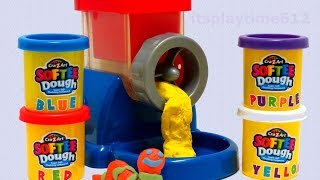 getlinkyoutube.com-Cra-Z-Art SOFTEE Dough Magic DOUGH Machine Mix'n Fun Learning Colors - itsplaytime612