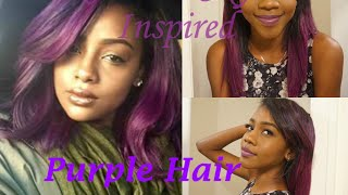 getlinkyoutube.com-Justine Skye Inspired | How I Dyed my Hair Purple