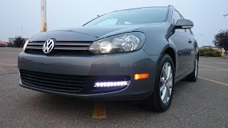 getlinkyoutube.com-2013 Golf Wagon LED Fog/Daytime running lights mod