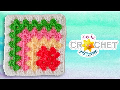Mitered Granny Square Crochet Pattern