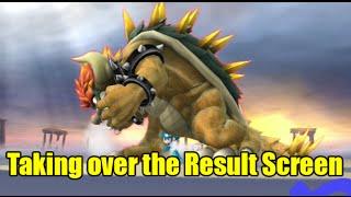 getlinkyoutube.com-Giga Bowser Takes Over the Result Screen with a Transform Glitch (Super Smash Bros Wii U)