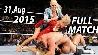 getlinkyoutube.com-Rusev vs Dolph Ziggler | Lana Summer Rae catfight 31 aug 2015 WWE RAW