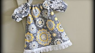 getlinkyoutube.com-Baby Dress (Sewing For Beginners)