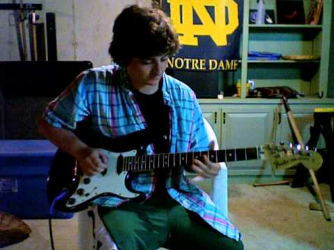 The Messenger 2012 Infected Mushroom Guitar Solo cover (Much Improved) by Derek Noonis