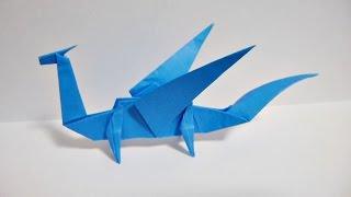 Easy Origami Dragon 折り紙 折り方 簡単なドラゴン