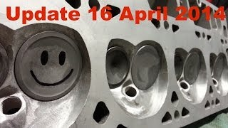 "getlinkyoutube.com-Ported 5.3 862 Heads with 2"" LS1 Intake Valves - Update 16 April 2014"